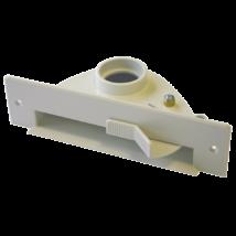 Szemétlapát adapter bútorba építhető központi porszívóhoz Fehér