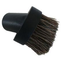 Portörlő kefe fekete központi porszívó, 6.5 cm, kerek fej