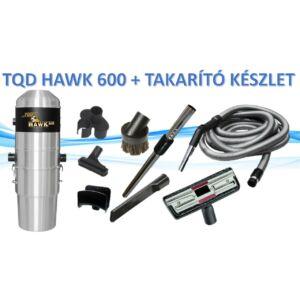 TQD HAWK 600 központi porszívó  + TAKARÍTÓ KÉSZLET