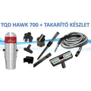TQD HAWK 700 központi porszívó + takarító készlet
