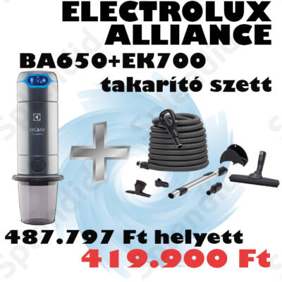 ELECTROLUX BEAM Alliance BA650LED szett