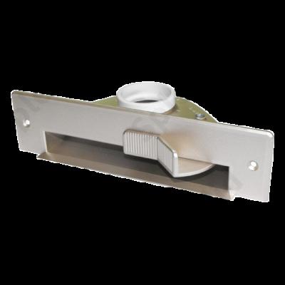 Szemétlapát adapter bútorba építhető központi porszívóhoz Ezüst