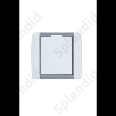 EMESE falicsatlakozó Jégszürke, kicsi kerekített forma