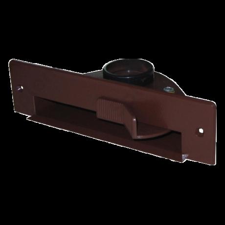 Szemétlapát adapter bútorba építhető központi porszívóhoz Sötétbarna