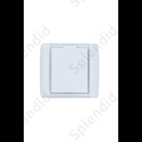 EMESE falicsatlakozó Tört fehér, kicsi kerekített forma