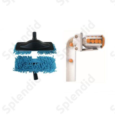 Silver takarító csomag: csőrendszer tisztító golyó, padlópolírozó takarítófej