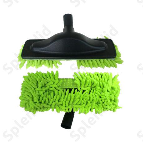 Padlópolírozó zöld mikroszálas kék takarítófej